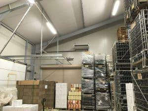 Traitement thermique d'un espace de stockage