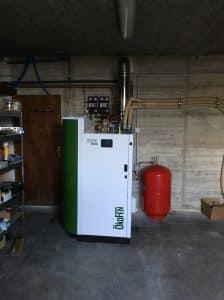 Installation d'une chaudière à granulé micro stockage (ECS instantanée)