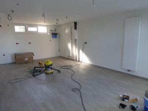 Installation mur chauffant blanc